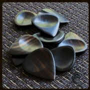 Groovy Tones - Ebony - 4 Guitar Picks | Timber Tones